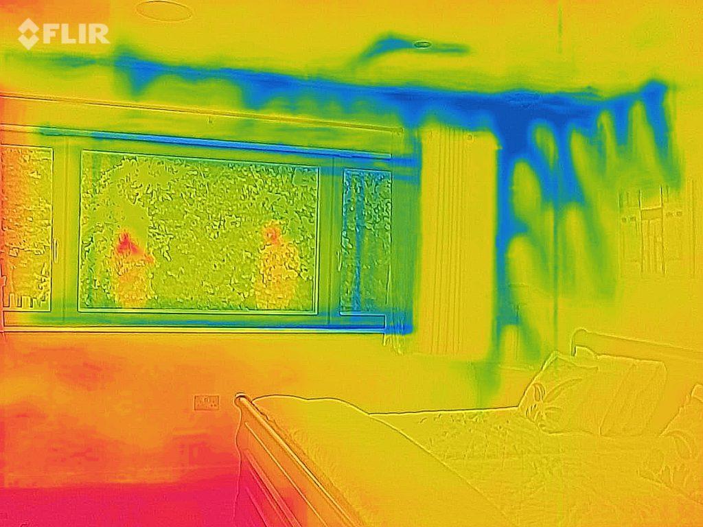 Thermal Imaging - Air Leakage Behind Plasterboard